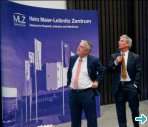Prof. Dr. Richter and Prof. Dr. Petry at the inauguration of MLZ. (Picture courtesy: FRM II)