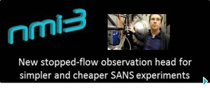 New stopped-flow observation head for simpler and cheaper SANS experiments