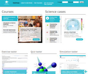 e-learning homepage